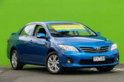 2011 Toyota Corolla ZRE152R MY11 Ascent Sport Blue 4 Speed Automatic Sedan Ringwood East Maroondah Area Preview