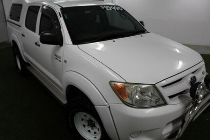 2006 Toyota Hilux GGN15R MY07 SR White 5 Speed Manual Utility