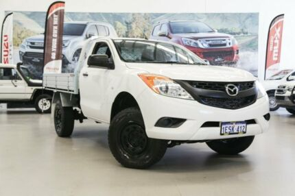 2012 Mazda BT-50 XT (4x2) White 6 Speed Manual Cab Chassis Rockingham Rockingham Area Preview