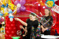 Bubble Show, Face Painting, Balloon Twisting and Mascots!
