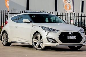 2012 Hyundai Veloster FS2 SR Coupe Turbo White 6 Speed Sports Automatic Hatchback Pakenham Cardinia Area Preview