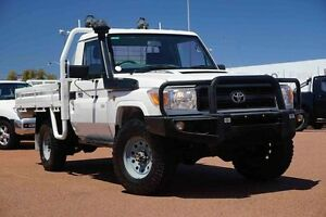 2013 Toyota Landcruiser VDJ79R MY13 Workmate White 5 Speed Manual Cab Chassis Westminster Stirling Area Preview