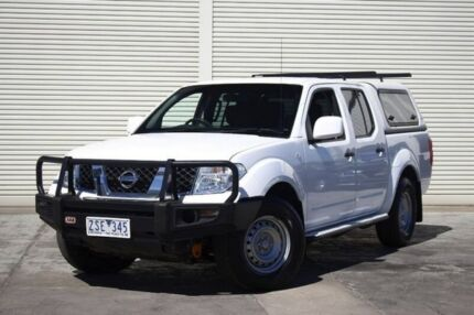 2013 Nissan Navara D40 S7 MY12 RX White 6 Speed Manual Utility