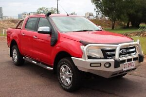 2012 Ford Ranger PX XLT Double Cab Red 6 Speed Automatic Dual Cab Utility The Gardens Darwin City Preview