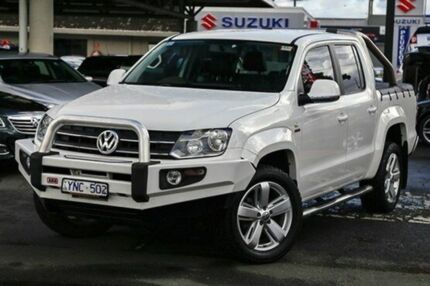 2011 Volkswagen Amarok 2H TDI400 4Mot Trendline White 6 Speed Manual Utility Doveton Casey Area Preview