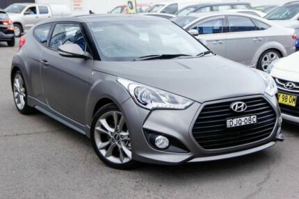 2016 Hyundai Veloster FS5 Series II SR Coupe D-CT Turbo Grey 7 Speed Sports Automatic Dual Clutch
