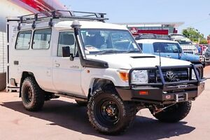 2013 Toyota Landcruiser VDJ78R MY13 Workmate Troopcarrier White 5 Speed Manual Wagon Northbridge Perth City Area Preview