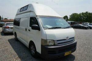 2007 Toyota HiAce TRH221R MY08 High Roof Super LWB White 4 Speed Automatic Van Elderslie Camden Area Preview