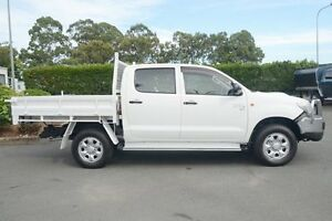 2012 Toyota Hilux KUN26R MY12 SR Double Cab White 5 Speed Manual Cab Chassis Acacia Ridge Brisbane South West Preview