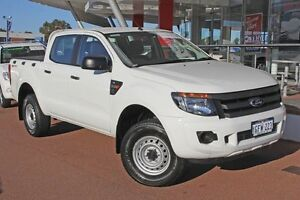 2014 Ford Ranger PX XL Double Cab 4x2 Hi-Rider White 6 Speed Manual Utility Myaree Melville Area Preview
