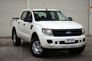 2011 Ford Ranger PX XL Double Cab 4x2 Hi-Rider White 6 Speed Sports Automatic Utility Seaford Frankston Area Preview