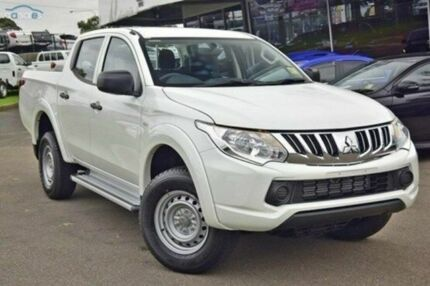2015 Mitsubishi Triton MQ MY16 GLX (4x4) White Solid 5 Speed Automatic Dual Cab Utility Blacktown Blacktown Area Preview