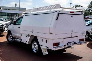 2013 Toyota Hilux KUN26R MY14 SR White 5 Speed Automatic Cab Chassis