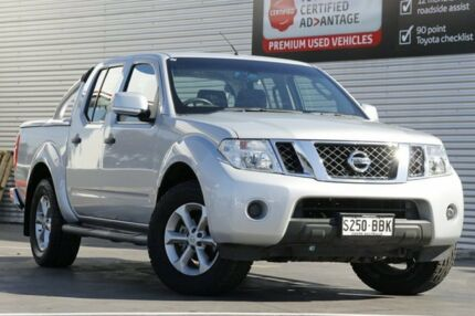 2014 Nissan Navara D40 S6 MY12 ST Silver 6 Speed Manual Utility Adelaide CBD Adelaide City Preview