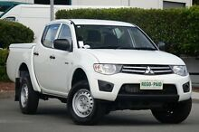 2012 Mitsubishi Triton MN MY12 GLX Double Cab White 4 Speed Automatic Utility Acacia Ridge Brisbane South West Preview