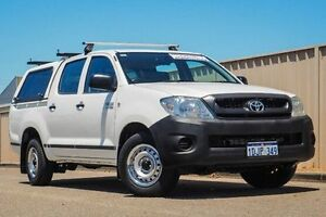 2010 Toyota Hilux TGN16R MY10 Workmate White 5 Speed Manual Utility Pearsall Wanneroo Area Preview