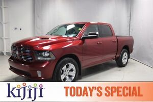 2014 Ram 1500 4WD CREWCAB SPORT Navigation (GPS),  Leather,  Hea