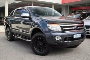 2013 Ford Ranger PX XLT Double Cab Grey 6 Speed Sports Automatic Utility Glendalough Stirling Area Preview