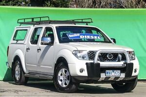 2008 Nissan Navara D40 ST-X White 6 Speed Manual Utility Ringwood East Maroondah Area Preview