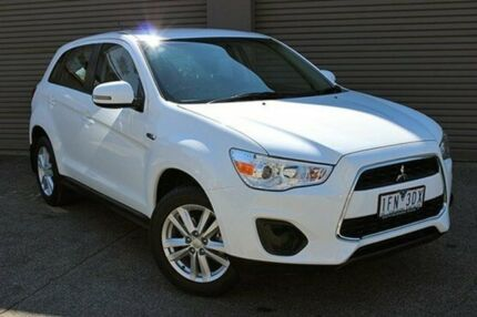 2013 Mitsubishi ASX XB MY14 2WD White 6 Speed Constant Variable Wagon South Melbourne Port Phillip Preview