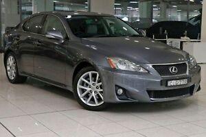2012 Lexus IS250 GSE20R MY11 Prestige Mercury Grey 6 Speed Sports Automatic Sedan Waterloo Inner Sydney Preview