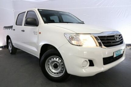 2014 Toyota Hilux GGN15R MY14 SR Double Cab 4x2 White 5 Speed Automatic Utility Sydney City Inner Sydney Preview