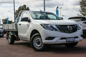 2015 Mazda BT-50 UP0YD1 XT 4x2 White 6 Speed Manual Cab Chassis East Rockingham Rockingham Area Preview