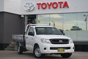 2010 Toyota Hilux TGN16R 09 Upgrade Workmate White 5 Speed Manual Cab Chassis Old Guildford Fairfield Area Preview