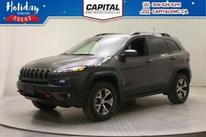 2017 Jeep Cherokee Trailhawk 4WD*Leather-Sunroof-Navigation*
