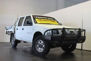 2001 Holden Rodeo TFG6 LX (4x4) White 5 Speed Manual 4x4 Crewcab Underwood Logan Area Preview