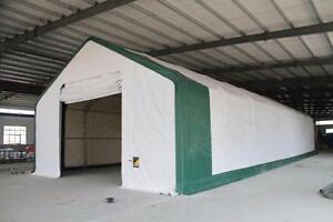 NEW PREMIUM 40X80X23 DOUBLE TRUSSED STORAGE SHELTER 21.5 OZ PVC FABRIC (2) 18X16 DOORS SHED BUILDING