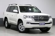 2018 Toyota Landcruiser VDJ200R MY16 VX (4x4) Crystal Pearl 6 Speed Automatic Wagon Bentley Canning Area Preview