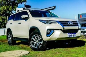 2015 Toyota Fortuner GUN156R Crusade White 6 Speed Automatic Wagon Wangara Wanneroo Area Preview