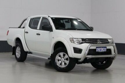2013 Mitsubishi Triton MN MY13 GL-R (4x4) White 5 Speed Manual Double Cab Utility