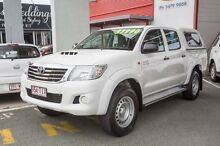 2013 Toyota Hilux KUN26R MY12 SR Double Cab White 4 Speed Automatic Utility Cleveland Redland Area Preview