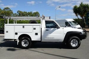 2011 Nissan Patrol GU 6 Series II DX Polar White 5 Speed Manual Cab Chassis Acacia Ridge Brisbane South West Preview