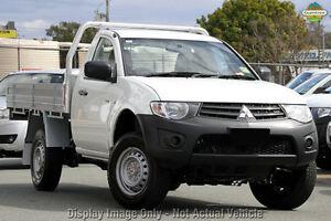 2014 Mitsubishi Triton MN MY15 GL White 5 Speed Manual Cab Chassis Aspley Brisbane North East Preview