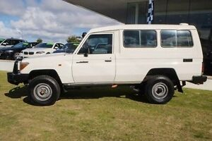 2010 Toyota Landcruiser VDJ78R MY10 Workmate Troopcarrier White 5 Speed Manual Wagon Wangara Wanneroo Area Preview