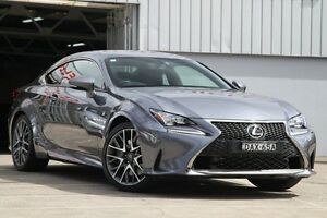 2015 Lexus RC350 GSC10R F Sport Grey 8 Speed Automatic Coupe Mosman Mosman Area Preview