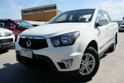 2014 Ssangyong Actyon Sports Q150 MY14 SX 4x2 White 6 Speed Sports Automatic Utility Dandenong Greater Dandenong Preview