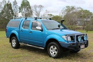 2007 Nissan Navara D40 ST-X Blue 5 Speed Automatic Utility Ormeau Gold Coast North Preview