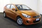 2016 Hyundai Accent RB4 MY17 Active Orange 6 Speed Constant Variable Hatchback Derwent Park Glenorchy Area Preview
