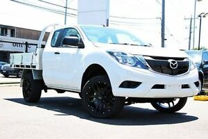 2016 Mazda BT-50 UR0YF1 XT Freestyle 4x2 Hi-Rider White 6 Speed Manual Cab Chassis Coburg Moreland Area Preview