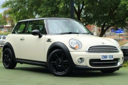 2012 Mini Hatch R56 LCI Cooper Steptronic Baker Street White 6 Speed Sports Automatic Hatchback
