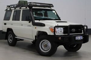 2012 Toyota Landcruiser VDJ76R MY12 Update Workmate (4x4) White 5 Speed Manual Wagon Bentley Canning Area Preview