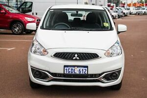 2016 Mitsubishi Mirage LA MY16 ES White 1 Speed Constant Variable Hatchback Wilson Canning Area Preview