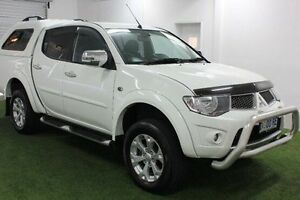 2014 Mitsubishi Triton MN MY15 GLX-R Double Cab White 5 Speed Manual Utility Moonah Glenorchy Area Preview