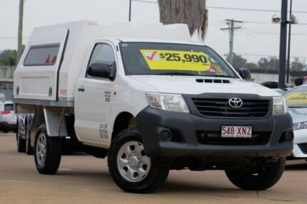 2011 Toyota Hilux KUN26R MY12 Workmate White 5 Speed Manual Cab Chassis