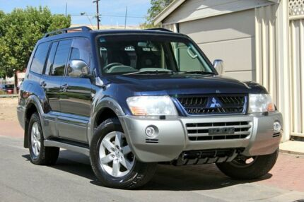 2004 Mitsubishi Pajero NP MY05 Exceed Blue 5 Speed Sports Automatic Wagon Glenelg Holdfast Bay Preview