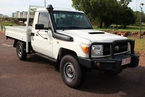 2011 Toyota Landcruiser VDJ79R MY10 Workmate French Vanilla 5 Speed Manual Cab Chassis The Gardens Darwin City Preview